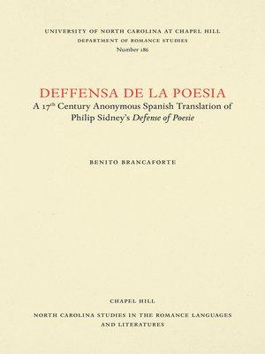 cover image of Deffensa de la poesia