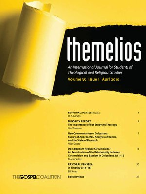 cover image of Themelios, Volume 35, Issue 1