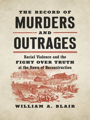 cover image of The Record of Murders and Outrages