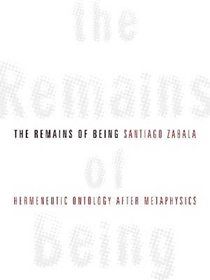 cover image of The Remains of Being