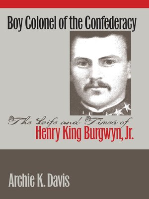 cover image of Boy Colonel of the Confederacy