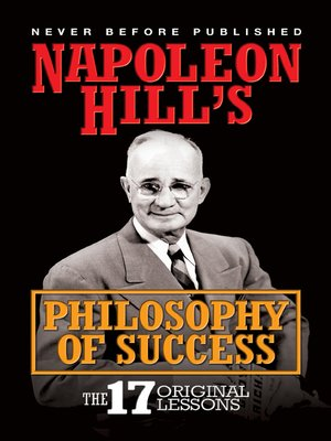 cover image of Napoleon Hill's Philosophy of Success