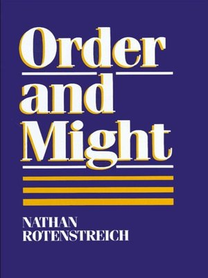 cover image of Order and Might
