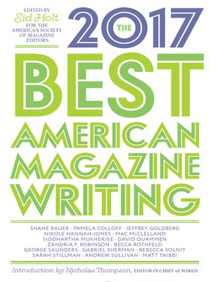 cover image of The Best American Magazine Writing 2017