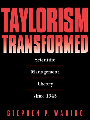 cover image of Taylorism Transformed