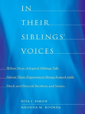 cover image of In Their Siblings' Voices