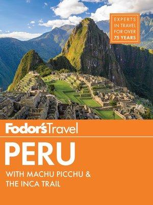 cover image of Fodor's Peru