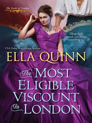 cover image of The Most Eligible Viscount in London