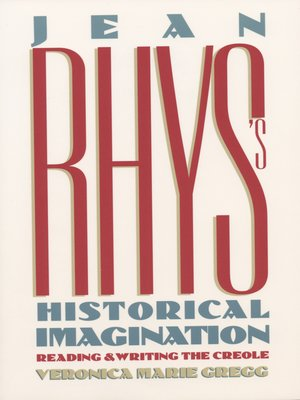 cover image of Jean Rhys's Historical Imagination