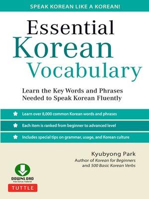 cover image of Essential Korean Vocabulary