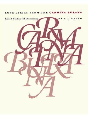cover image of Love Lyrics from the Carmina Burana