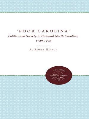 cover image of 'Poor Carolina'