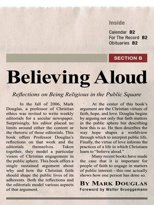 cover image of Believing Aloud