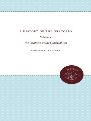 cover image of A History of the Oratorio