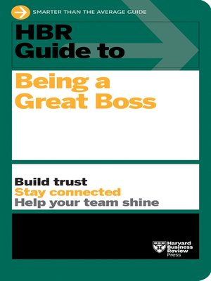 cover image of HBR Guide to Being a Great Boss