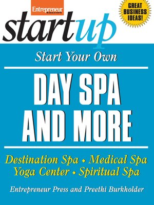 cover image of Start Your Own Day Spa and More