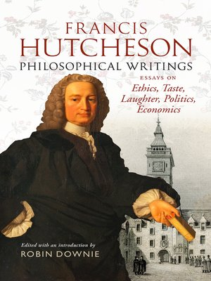 cover image of Francis Hutcheson Philosophical Writings