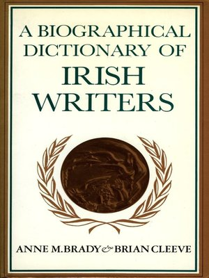 cover image of A Biographical Dictionary of Irish Writers