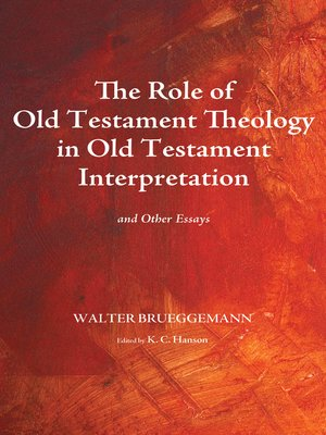 cover image of The Role of Old Testament Theology in Old Testament Interpretation