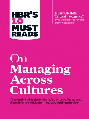 cover image of HBR's 10 Must Reads on Managing Across Cultures