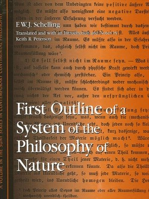 cover image of First Outline of a System of the Philosophy of Nature