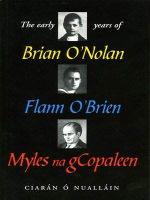 cover image of The Early Years of Brian O'Nolan