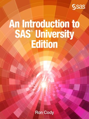cover image of An Introduction to SAS University Edition
