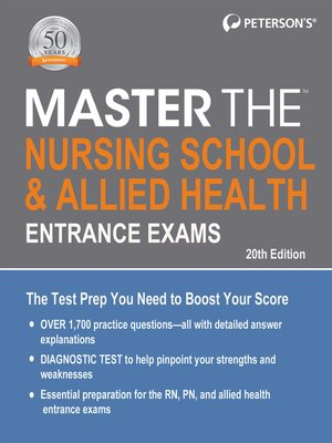 cover image of Master the Nursing School & Allied Health Entrance Exams