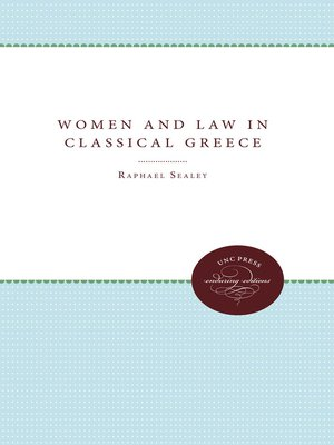 cover image of Women and Law in Classical Greece