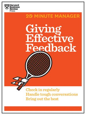 cover image of Giving Effective Feedback (HBR 20-Minute Manager Series)