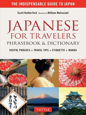 cover image of Japanese for Travelers Phrasebook & Dictionary