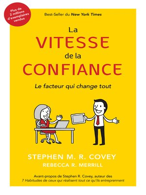 cover image of La Vitesse De La Confiance