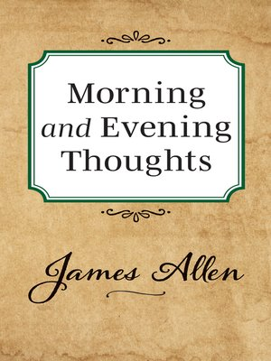 cover image of Morning and Evening Thoughts