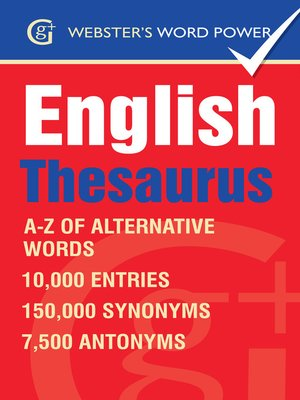 cover image of Webster's Word Power English Thesaurus