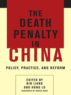 cover image of The Death Penalty in China