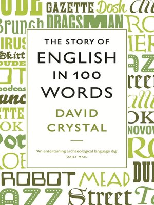 cover image of The Story of English in 100 Words