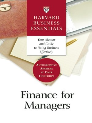 cover image of Finance for Managers