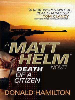 cover image of Matt Helm--Death of a Citizen