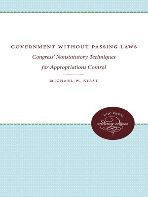 cover image of Government Without Passing Laws