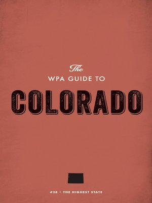 cover image of The WPA Guide to Colorado