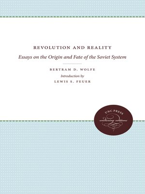 cover image of Revolution and Reality