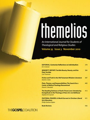 cover image of Themelios, Volume 35, Issue 3
