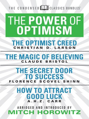 cover image of The Power of Optimism (Condensed Classics)