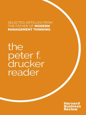 cover image of The Peter F. Drucker Reader