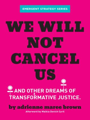 cover image of We Will Not Cancel Us