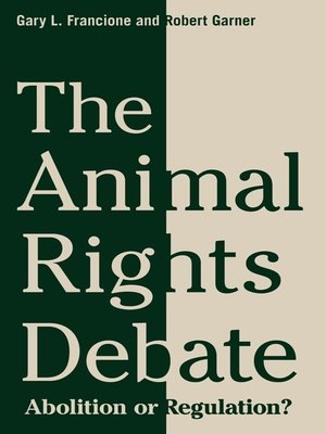 cover image of The Animal Rights Debate