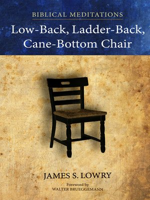 cover image of Low-Back, Ladder-Back, Cane-Bottom Chair