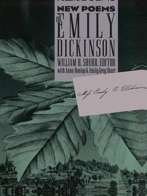 cover image of New Poems of Emily Dickinson