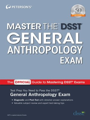 cover image of Master the DSST General Anthropology Exam