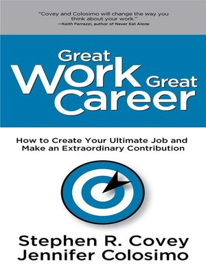 cover image of Great Work Great Career